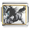 Galloping Horse Painting Charm Photo Italian Charm