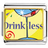 Drink Less Alcohol Charm Photo Italian Charm