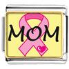 Mom Pink Ribbon Awareness Charm Photo Italian Charm