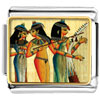 Gold Plated Egyptian Musicians Photo Italian Charm