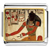 Gold Plated Egyptian God Khepri Photo Italian Charm