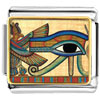 Gold Plated Egyptian Eye Of Horus Photo Italian Charm
