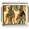 Gold Plated Egyptian Horus And Nefertiti Photo Italian Charm