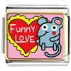 Gold Plated Valentine'S Day Funny Love Mouse Photo Italian Charms Bracelets