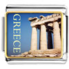 Gold Plated Landmark Greece Photo Italian Charm Bracelets