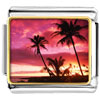Gold Plated Landmark Hawai Photo Italian Charm Bracelets