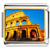 Gold Plated Landmark Colosseum Photo Italian Charm Bracelets