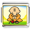 Gold Plated Religion Buddhism Little Monk Photo Italian Charm Bracelets