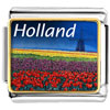 Gold Plated Travel Holland Photo Italian Charm Bracelets