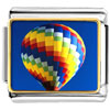 Gold Plated Travel Hot Air Balloon Photo Italian Charm Bracelets