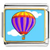 Gold Plated Travel Beauty Of Hot Air Balloon Photo Italian Charm Bracelets