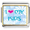 I Heart My Kids Photo Charm Photo Italian Charm