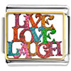 Colored Artistic Live Love Laugh Photo Photo Italian Charm