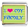 I Heart My Family Photo Charm Photo Italian Charm