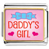 Pink Daddy'S Girl Charm Photo Italian Charm