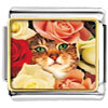 Cat Bouquet Charm Photo Italian Charm