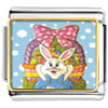 Easter Basket &  Bunny Charm Photo Italian Charm
