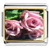 Dusty Pink Roses Charm Photo Italian Charm