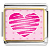 Heart Scribble Charm Photo Italian Charm