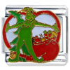 Grinch With Christmas Gifts Licensed Italian Charm