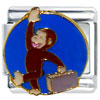 Curious George Travel Licensed Italian Charm