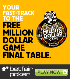 Betfair Poker Million Dollaw WSOP Promotion